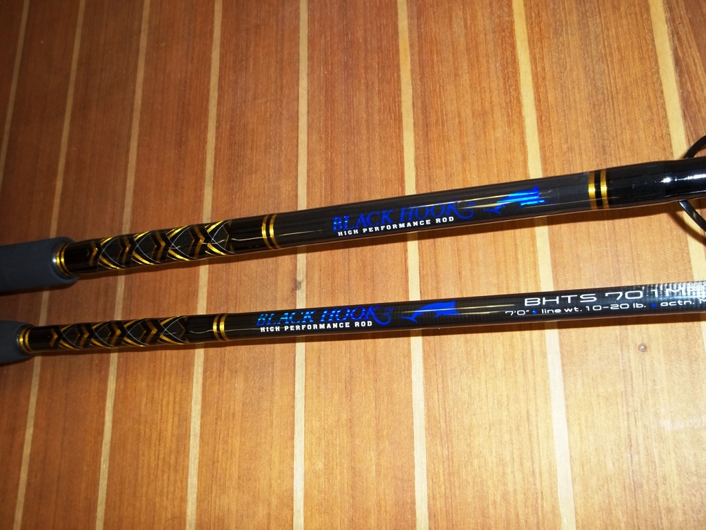 Custom spinning rods blackfin shimano for Personalized fishing rods