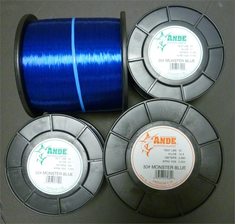 ande monofilament monster blue fishing line