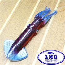 clear red blue squid