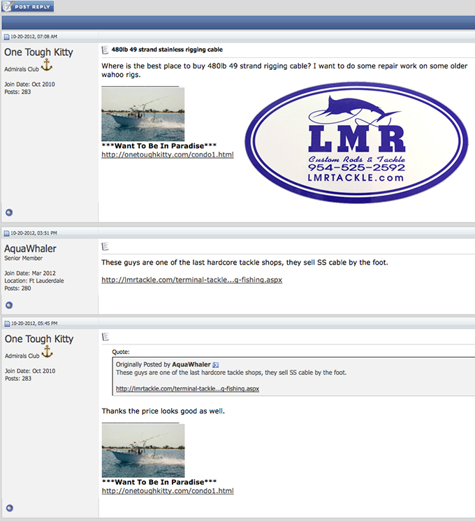 LMR Tackle Testimonial Hulltruth.com
