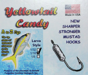 A to Z Jigs - Yellowtail Candy