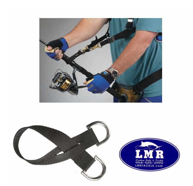 Aftco Spin Strap - Shoulder Harness & Fighting Belt Accessory | Reel Harness |  | LMR Tackle