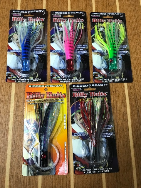 """Blue//Pearl CUSTOM OFFSHORE TACKLE 8/"""" Flying Fish Lure Great 4 Daisy Chains"""