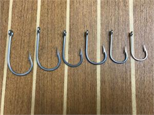 1 pack MUSTAD STAINLESS STEEL hooks 7691S-SS size 12//0 southern and tuna hooks