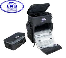 Black Magic Tackle Bag w/ 3 Utility Boxes & Insulated Box)