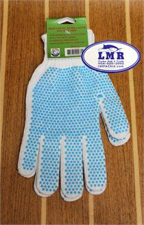 LMR Tackle Blue Dot No-Slip Gloves
