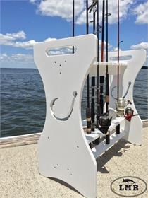 rod rack rod holder fishing saltwater