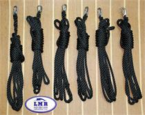 LMR Tackle Custom Safety Line (3 Strand Black Nylon)